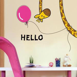 Sticker perete Hello Giraffe