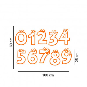 Sticker perete Invatam sa numaram