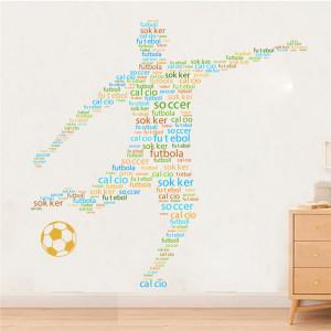 Sticker perete Jucator de fotbal