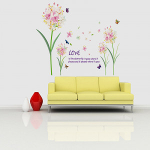 Sticker perete Love is Like a Butterfly