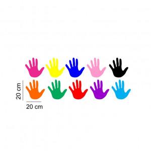 Sticker perete Manute Colorate