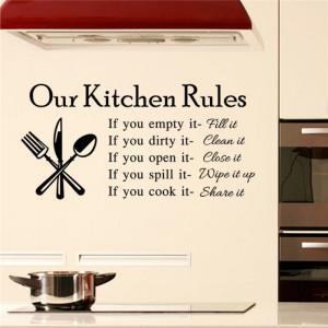 Sticker perete Our Kitchen Rules