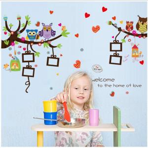 Sticker perete Owl Tree