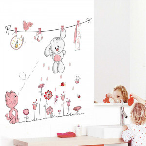 Sticker perete Pink Bunny