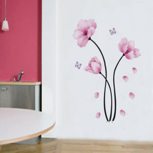 Sticker perete Pink flowers