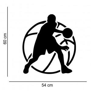Sticker perete Silueta baschet 1
