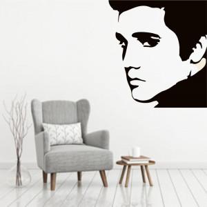 Sticker perete Silueta Elvis
