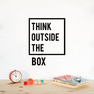 Sticker perete Think Outside The Box