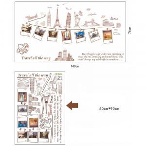 Sticker perete World Traveler
