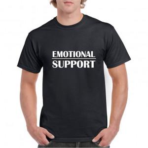 Tricou personalizat barbati negru Emotional Support S