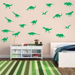 Set stickere perete Siluete Dinozauri