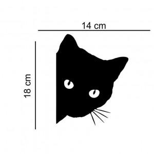 Sticker auto Pisica neagra 1