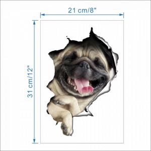 Sticker decorativ Here I am - Pug 21 x 31 cm