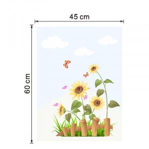 Sticker geam floarea soarelui 5