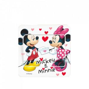 Sticker intrerupator Mickey si Minnie 9x9 cm