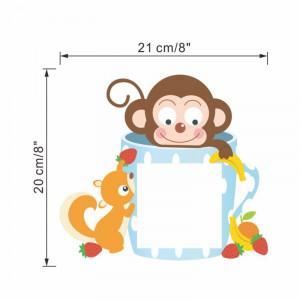 Sticker intrerupator Teacup Maimuta si veverita