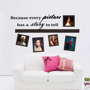 Sticker perete A story to tell photo frame 30x90 cm