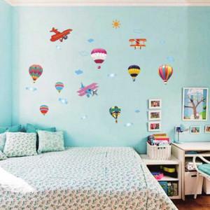 Sticker perete Baloane si Avioane