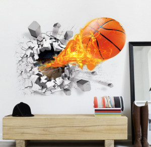 Sticker perete Basket Ball 3D 50 x 70 cm