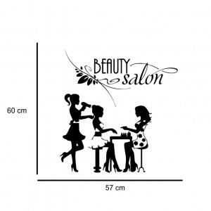 Sticker perete Beauty Salon 3
