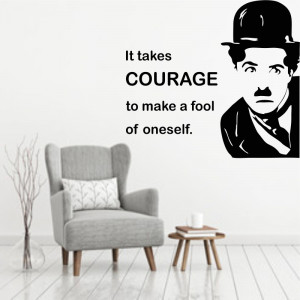 Sticker perete Charlie Chaplin - Courage