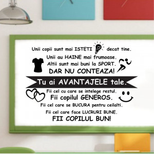 Sticker perete Copilul Bun