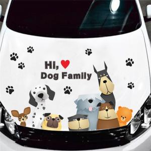 Sticker perete familie de catei 4