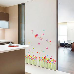 Sticker perete / geam Inimi Colorate