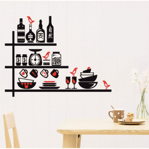 Sticker perete Kitchen Shelves 2
