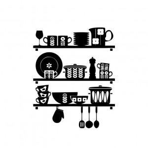 Sticker perete Kitchen Shelves
