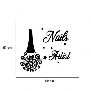 Sticker perete Nail Salon 6