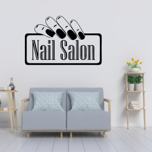 Sticker perete Nail Salon 7