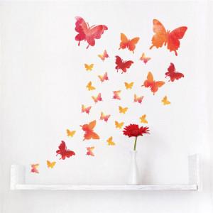 Sticker perete Red Butterflies