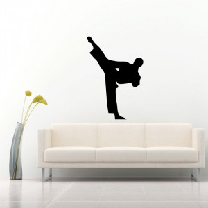 Sticker perete Silueta Karate 4