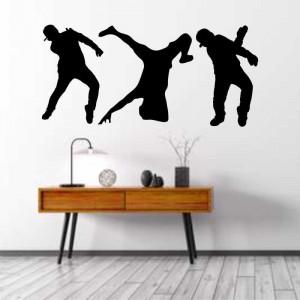 Sticker perete Siluete dansatori hip-hop
