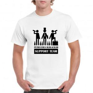 Tricou personalizat barbati alb Support Team