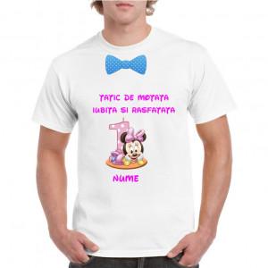 Tricou personalizat barbati alb Tatic de Motata Iubita si Rasfatata