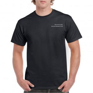 Tricou personalizat barbati negru Esti prea aproape de mine S