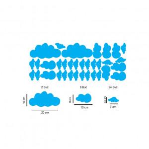 Set stickere perete Norisori Albastri