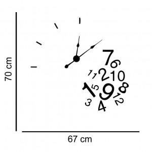 Sticker decorativ ceas Cifre Amestecate
