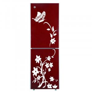 Sticker decorativ frigider Flori Albe