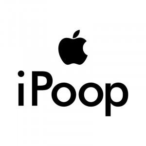 Sticker decorativ iPoop 18x14 cm