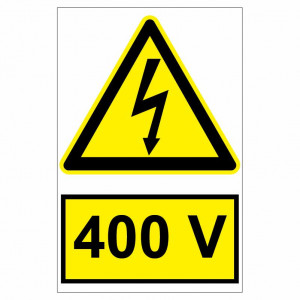 Sticker indicator 400V