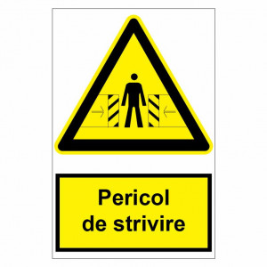 Sticker indicator Pericol de strivire 1