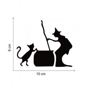 Sticker intrerupator pisica neagra si vrajitoare