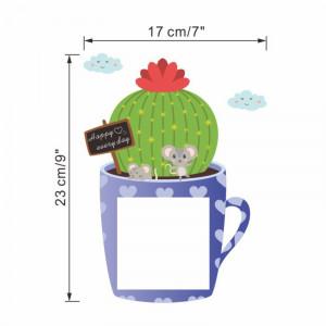 Sticker intrerupator Teacup Cactus
