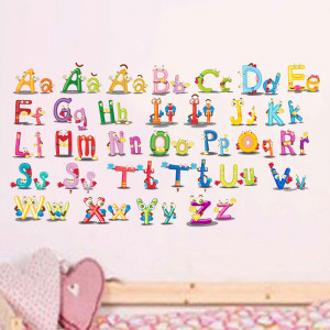 Sticker perete Alfabetul Vesel al limbii romane 1