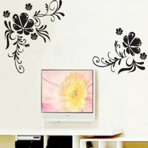 Sticker perete Black Flower Decor 3