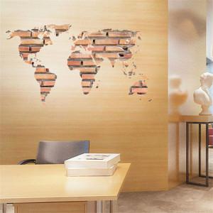 Sticker perete Bricks Map