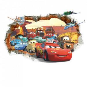 Sticker perete Cars 3D Disney 70 x 50 cm
